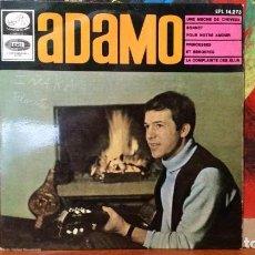 Discos de vinilo: ** ADAMO - UNE MECHE DE CHEVEUX + 3 - EP AÑO 1966 - LEER DESCRIPCIÓN. Lote 231573095