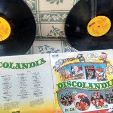 Disques de vinyle: LP (VINILO)-DOBLE DISCOLANDIA- PARCHIS- GRUPO NINS-PAYASOS DE LA TELE-REGALIZ...) AÑOS 80. Lote 231579610