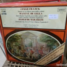 Discos de vinilo: DISCO VINILO CESAR FRANCK, MANUEL DE FALLA, PABLO DE SARASATE Nº 14. SIN USO. DISC-31. Lote 231591835