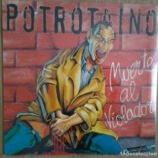 Discos de vinilo: POTROTAINO - MUERTE AL VIOLADOR- VINILO LP - REEDICION DDT. Lote 231607535