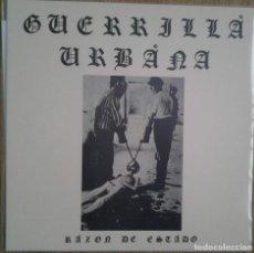 Discos de vinilo: GUERRILLA URBANA - RAZON DE ESTADO - VINILO LP - REEDICION RADIKAL77. Lote 231607785