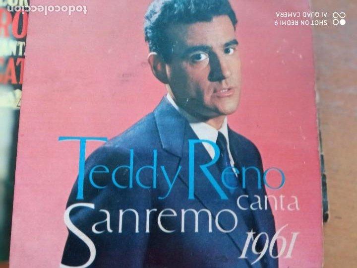 TEDDY RENO CANTA SAN REMO 1961 EP (Música - Discos - Singles Vinilo - Festival de Eurovisión)