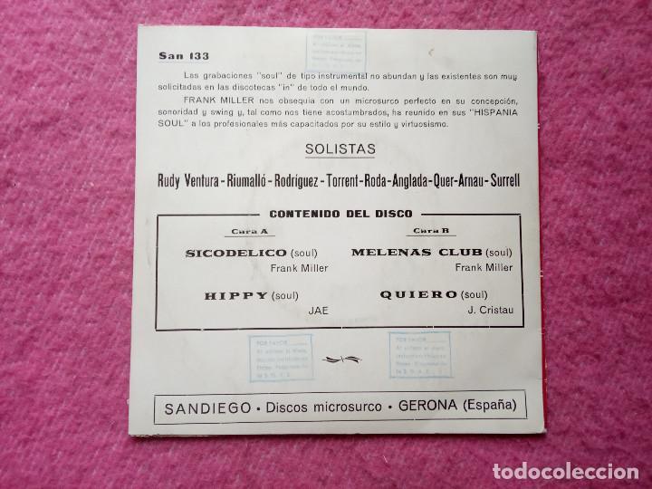 Discos de vinilo: EP FRANK MILLER - Sicodelico / Hippy / Quiero / Melenas Club - San 133 - SPAIN Promo (EX-/NM) - Foto 2 - 231619960