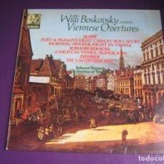 Disques de vinyle: WILLI BOSKOVSKY - OBERTURAS VIENESAS - STRAUSS - LP EDIGSA 1982 - CLASICA - DIRIA Q SIN USO. Lote 231655140