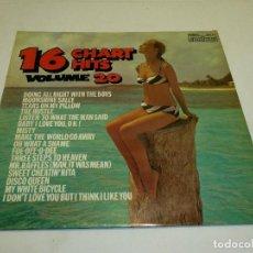 Disques de vinyle: 16 CHART HITS VOLUME 20 SELLO: CONTOUR – 2870 429. Lote 231668580