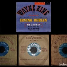 Disques de vinyle: WAYNE KING. PLAYS IRVING BERLIN. REMEMBER. ALL ALONE. ALWAYS ... [CAJA CON 3 SINGLES].. Lote 231701500