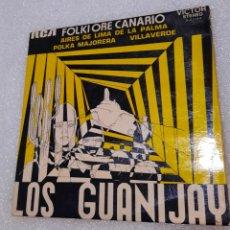 Discos de vinilo: LOS GUANIJAY - AIRES DE LIMA DE LA PALMA + 2. Lote 231708610