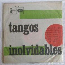 Discos de vinilo: LP VINILO TANGOS INOLVIDABLES, ALFREDO DE ANGELIS, OSVALDO PUGLIESE, ..... Lote 263566790