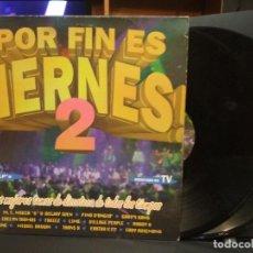 Discos de vinilo: POR FIN ES VIERNES,2 LOS MEJORES TEMAS DE DISCOTECA, 2 LPS MAX MUSIC SPAIN PEPETO. Lote 231747845