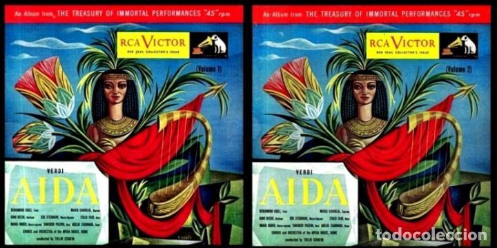Discos de vinilo: IDEAL COLECCIONISTAS. VERDI. AIDA. COMPLETA [2 CAJAS+ESTUCHE CONTENEDOR+20 DISCOS SINGLES+LIBRETOS]. - Foto 2 - 231763035