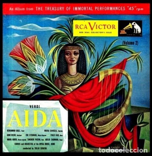 Discos de vinilo: IDEAL COLECCIONISTAS. VERDI. AIDA. COMPLETA [2 CAJAS+ESTUCHE CONTENEDOR+20 DISCOS SINGLES+LIBRETOS]. - Foto 5 - 231763035