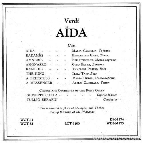 Discos de vinilo: IDEAL COLECCIONISTAS. VERDI. AIDA. COMPLETA [2 CAJAS+ESTUCHE CONTENEDOR+20 DISCOS SINGLES+LIBRETOS]. - Foto 8 - 231763035