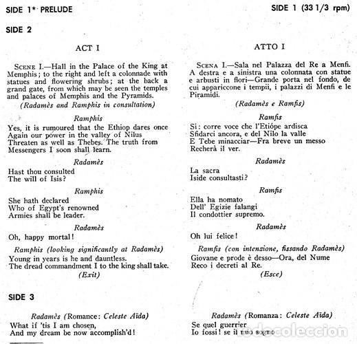 Discos de vinilo: IDEAL COLECCIONISTAS. VERDI. AIDA. COMPLETA [2 CAJAS+ESTUCHE CONTENEDOR+20 DISCOS SINGLES+LIBRETOS]. - Foto 10 - 231763035