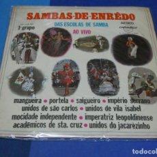 Discos de vinilo: EXPRO LP BRASIL 1970 SAMBAS DO ENREDO A VIVO SOLO LEVES SEÑALES USO. Lote 231774445