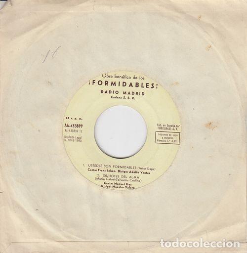 MANOLO GAS ANTONIO ARETA TITO MORA CANTAN USTEDES SON FORMIDABLES EP VINILO PROMO CADENA SER (Música - Discos de Vinilo - EPs - Funk, Soul y Black Music)