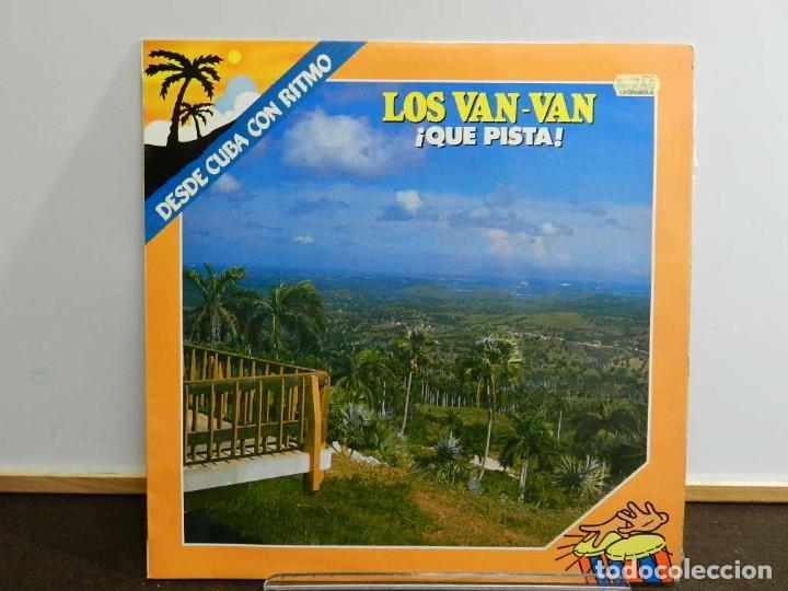 DISCO VINILO LP. LOS VAN VAN – ¡QUE PISTA!. 33 RPM (Música - Discos - LP Vinilo - Grupos y Solistas de latinoamérica)