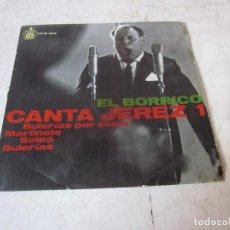 Dischi in vinile: EL BORRICO - CANTA JEREZ 1 - HISPAVOX - SOLO FUNDA. Lote 231880850