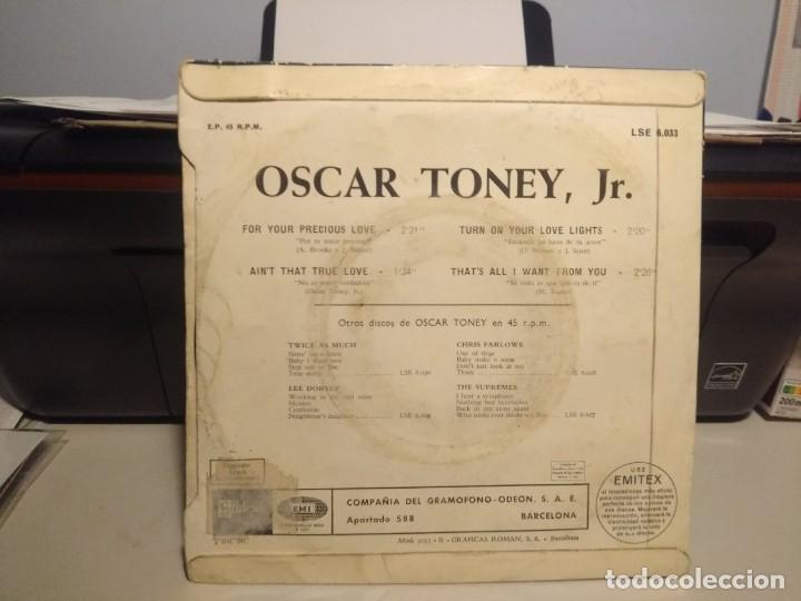 Discos de vinilo: EP OSCAR TONEY, JR : FOR YOU PRECIOUS LOVE - Foto 2 - 231884610