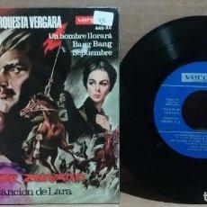 Discos de vinilo: RUDY VENTURA Y ORQUESTA VERGARA / DOCTOR ZHIVAGO LA CANCION DE LARA + 3 / EP 7 INCH. Lote 231896735