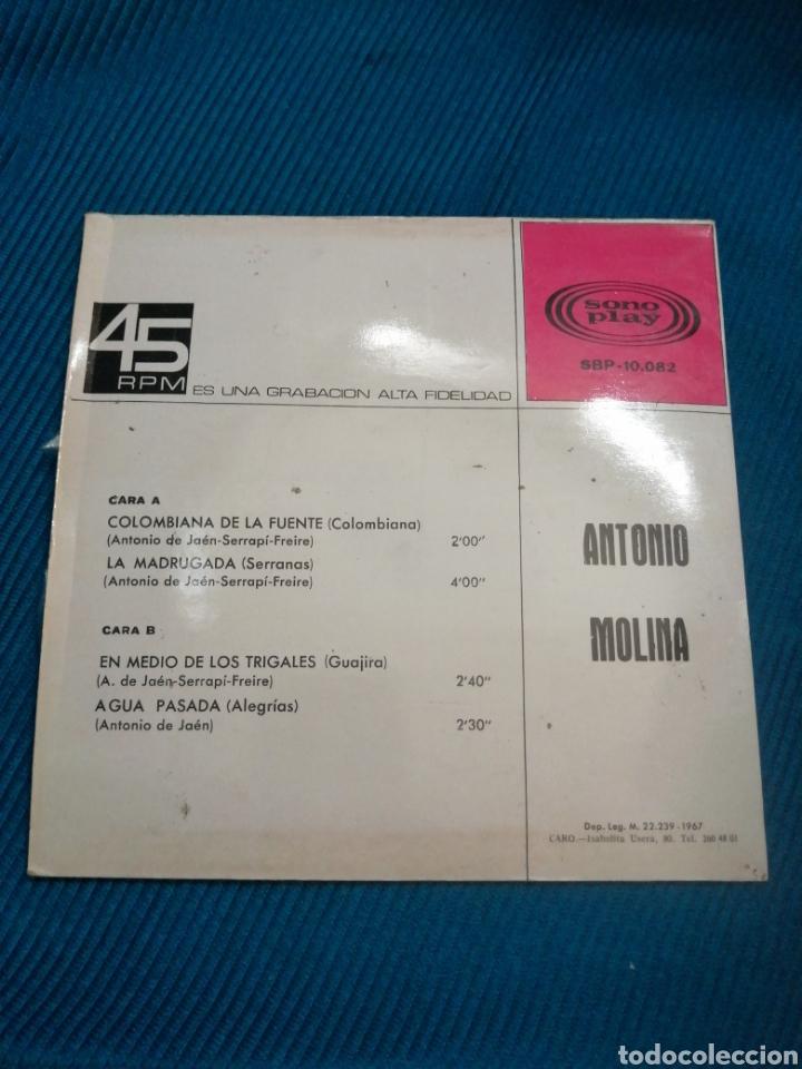 Discos de vinilo: VINILO ANTONIO MOLINA, 1967, SONOPLAY SPB10082 - Foto 2 - 231909280