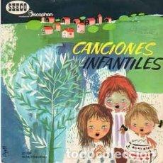 Discos de vinilo: CANCIONES INFANTILES, CANCIONES POPULARES INFANTILES - EP SEECO DISCOPHON, 1966. Lote 231918260