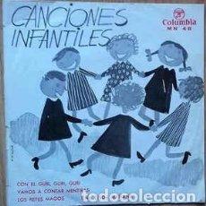 Discos de vinilo: CANCIONES POPULARES INFANTILES - CANCIONES INFANTILES – EP TRICENTER SPAIN 1964. Lote 231918505