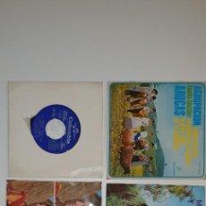 Discos de vinilo: LOTE 6 SINGLES - COLUMBIA.- GRUPOS FOLKLORICOS Y OTROS. Lote 231920470