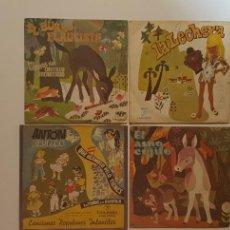 Discos de vinilo: LOTE 4 SINGLES - COLUMBIA. CUENTOS Y MUSICA PARA NIÑOS. Lote 231921565