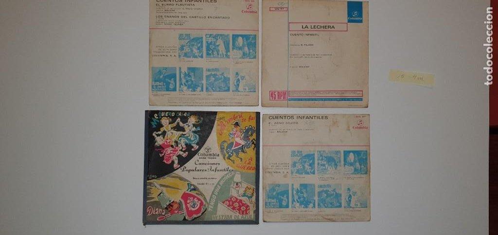 Discos de vinilo: LOTE 4 SINGLES - COLUMBIA. CUENTOS Y MUSICA PARA NIÑOS - Foto 2 - 231921565