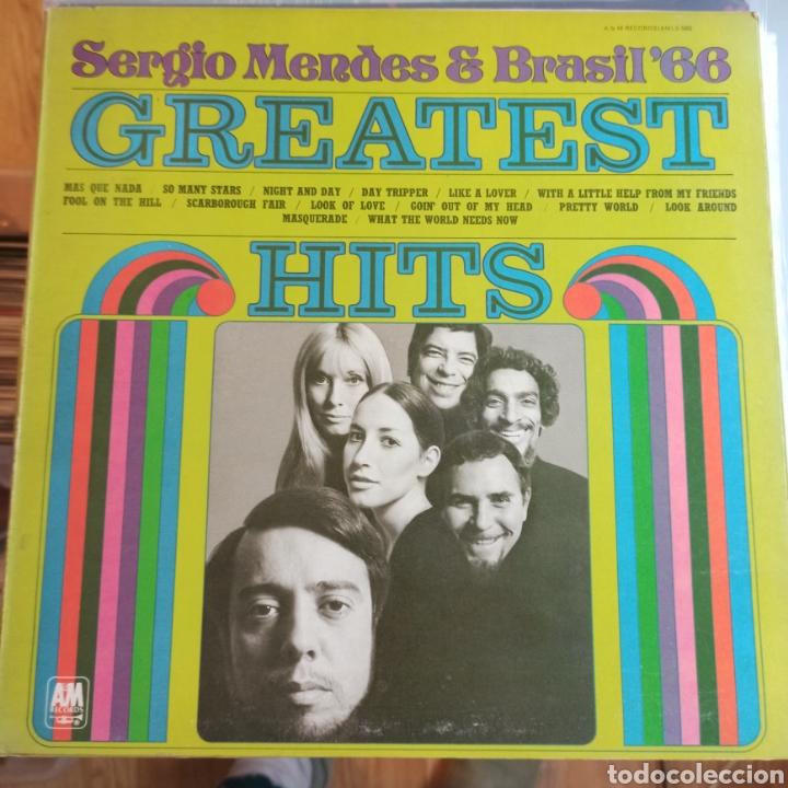 SERGIO MENDES & BRASIL '66 - GREATEST HITS (A&M RECORDS - AMLS 985, EUROPE, 1970) (Música - Discos - LP Vinilo - Jazz, Jazz-Rock, Blues y R&B)