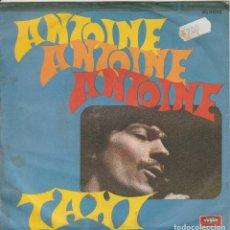Discos de vinilo: 45 GIRI ANTOINE TAXI /LA PARTITA DISQUES VOGUE ITALY 1970 SANREMO. Lote 231954510