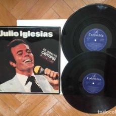 Discos de vinilo: JULIO IGLESIAS (EN DIRECTO DESDE EL OLYMPIA) COLUMBIA, 1976 ¡DOBLE LP! ¡ORIGINAL!. Lote 231972030