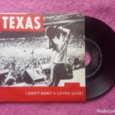 Dischi in vinile: SINGLE TEXAS - I DON'T WANT A LOVER (LIVE) - SPAIN PRESS PROMO (NM/VG++) 40 PRINCIPALES. Lote 231992525