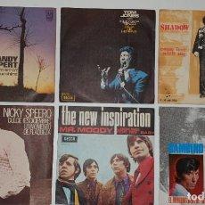 Discos de vinilo: LOTE 6 SINGLES COLUMBIA - BAMBINO, SHADOW MANN, TOM JONES,SANDY ALPERT, NICKY SPEERO Y THE NEW INSP. Lote 232015965