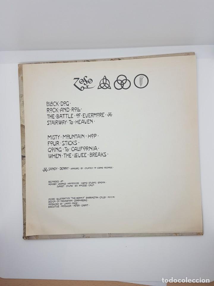 Discos de vinilo: LED ZEPPELIN ZOSO AÑO 1971 OJO EDICION ESPAÑOLA!!!! - Foto 4 - 232025955