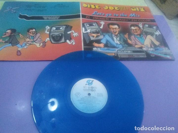 LP.DISC JOCKEY MIX.LET 'S GO TO THE MIX.1986. EL 1ER MEGAMIX EN COLOR - JAVIER USSIA/MIKE PLATINAS. (Música - Discos - LP Vinilo - Disco y Dance)