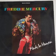 Discos de vinilo: FREDDY MERCURY - MADE IN HEAVEN (VINILO MAXI-SINGLE - 1985). Lote 232046425