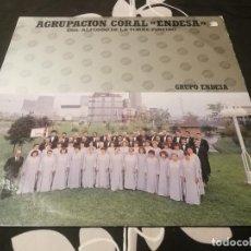 Discos de vinilo: AGRUPACIÓN CORAL ENDESA MUSICA FOLK GALICIA POPULAR BUEN ESTADO. Lote 232073390