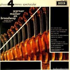 Disques de vinyle: VINILO - 1970 - WERNER MÜLLER Y SU ORQUESTA - WERNER MLLER EN BROADWAY. Lote 232090545
