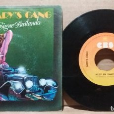 Disques de vinyle: GARY'S GANG / KEEP ON DANCIN / SINGLE 7 INCH. Lote 232091835