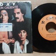 Discos de vinilo: FOXY / CANCION CALIENTE / SINGLE 7 INCH. Lote 232092000