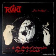 Discos de vinilo: TCACT - BE INVITED... ...TO THE THEATRE OF PERVERSION - EP ALEMAN 1986 - MORON (PORTADA POSTER). Lote 232180865