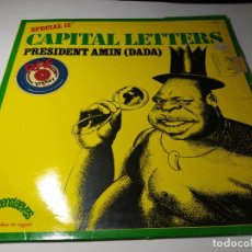 Dischi in vinile: MAXI - CAPITAL LETTERS – PRESIDENT AMIN (DADA) - 740 521 (VG / F) FRANCE 1979. Lote 232190425