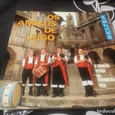 Discos de vinilo: OS AMIGOS DE LUGO. BELTER 52.245. ESPAÑA 1972. REVERSO PUBLICIDAD SAN FROILÁN 1972 / BANCO PASTOR. Lote 232194650