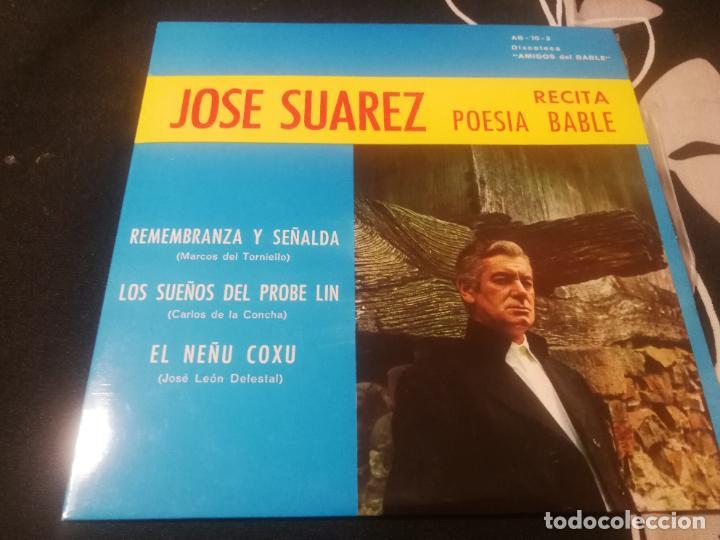 JOSE SUAREZ RECITA POESIA BABLE EP SELLO IBERIA AÑO 1970 DISCOTECA AMIGOS DEL BABLE (Música - Discos de Vinilo - EPs - Grupos Españoles de los 70 y 80)