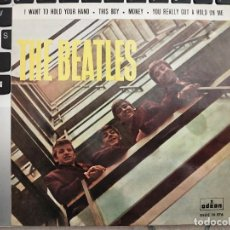"""Dischi in vinile: THE BEATLES - I WANT TO HOLD YOUR HAND (7"""", EP, BLU) SELLO:ODEON DSOE 16.576. VG+ / NEAR MINT. Lote 232199340"""