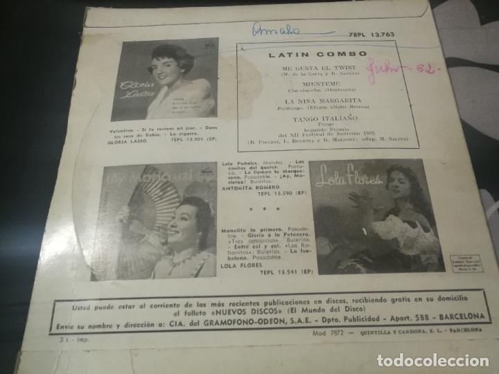 Discos de vinilo: EP LATIN COMBO / 4 BAILABLES / ME GUSTA EL TWIST/MIENTEME/LA NIÑA MARGARITA/TANGO - Foto 2 - 232202825
