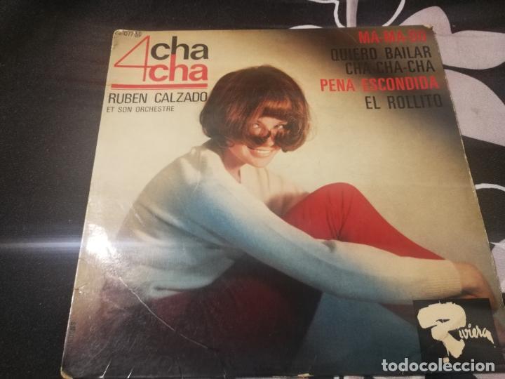 RUBÉN CALZADO Y SU ORQUESTA 4 CHA-CHA. MA-MA-DU, QUIERO BALILAR CHA-CHA, PENA ESCONDIDA EL ROLLITO (Música - Discos de Vinilo - EPs - Grupos y Solistas de latinoamérica)