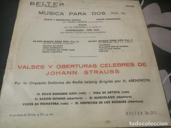 Discos de vinilo: MUSICA PARA DOS (VOL III) HERBERT REHBEIN Y ORQUESTA, ED JOHNSON Y CONJUNTO Y NANCY SCOTT CORO - Foto 2 - 232208040