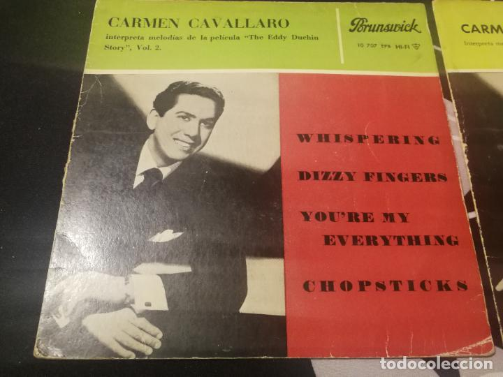 Discos de vinilo: CARMEN CAVALLARO - THE EDDY DUCHIN STORY B.S.O. - ON THE SUNNY SIDE OF THE STREET VOL. 1 Y 2. - Foto 2 - 232217750
